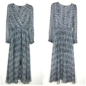 Victoria's Secret Animal Print Wrap Maxi dress HK